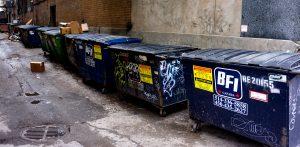 Wastebins. Montreal